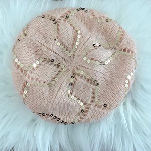 H&M Crochet Slouchy Sequins Beret